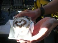 Cappuccino suklaasydämellä